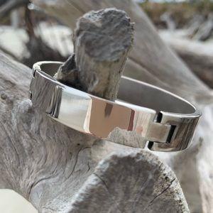 🌅.925 Solid Sterling Silver Modern cuff bracelet